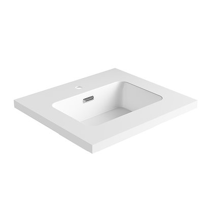 Carrara Solid Surface Vanity Top (SSVT24)