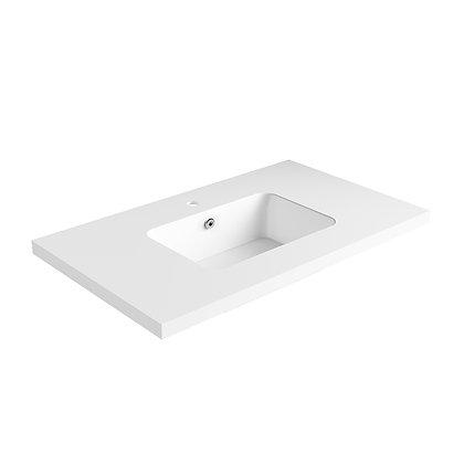 Carrara Solid Surface Vanity Top (SSVT36)