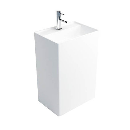 Solid Surface Freestanding Pedestal Sink