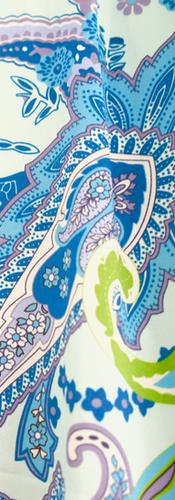 Cocoon iconic paisley, Kismet Aqua