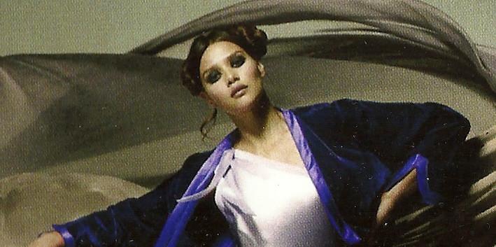 Cocoon Fernanda One Shoulder Gown in Lavender