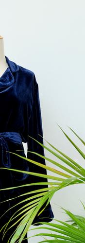 Cocoon Moira Pyjama Navy Silk Velvet