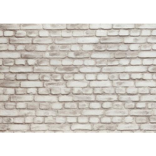 Panel Fibra de Vidrio Ladrillo Macizo Blanco Roto