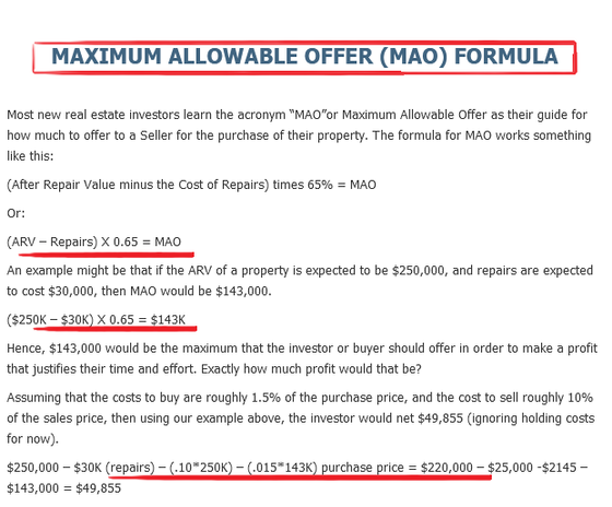 The MAO Formula (How We Buy!)