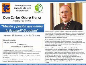 CENA COLOQUIO CON D. CARLOS OSORO SIERRA