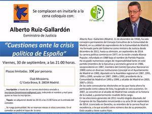 CENA-COLOQUIO ALBERTO RUIZ GALLARDÓN