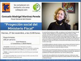 CENA-COLOQUIO CON CONSUELO MADRIGAL
