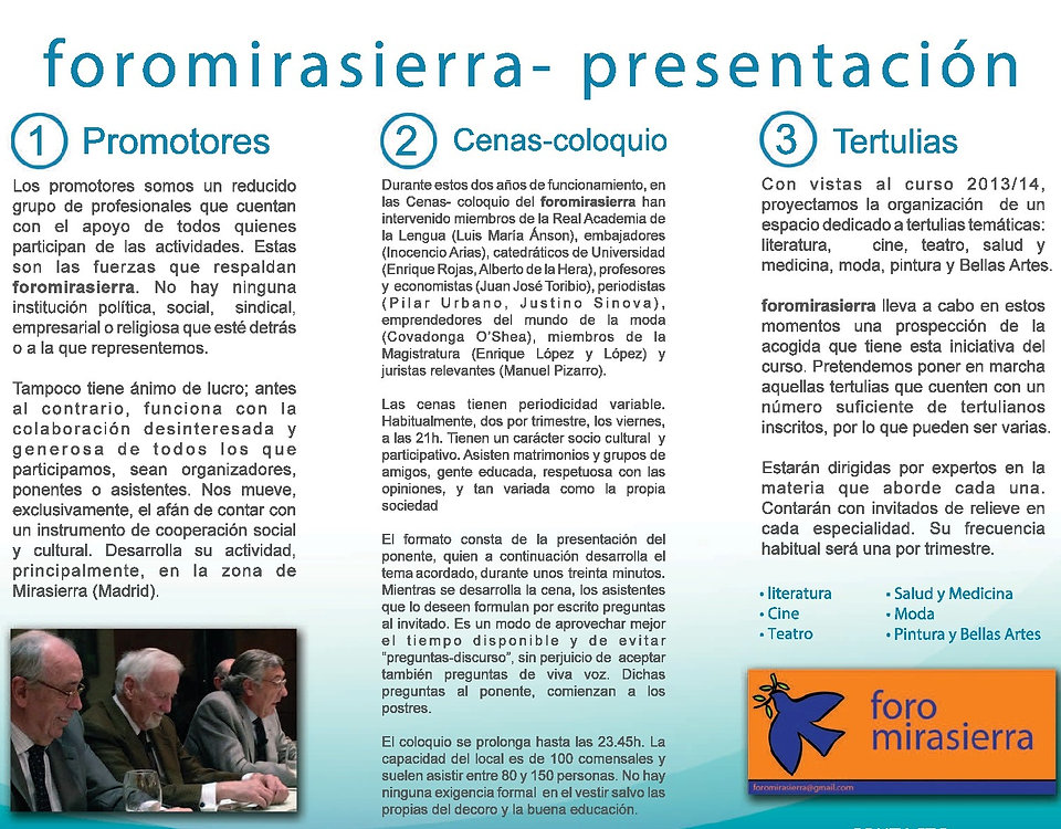 debates Foro Mirasierra