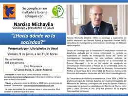 CENA-COLOQUIO CON NARCISO MICHAVILA