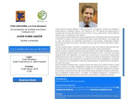 CENA-COLOQUIO CON JAVIER GOMÁ LANZÓN