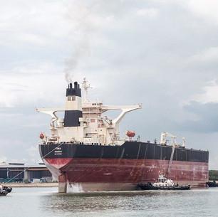 Tanker sails into Singapore for ExxonMobil Guyana Liza FPSO conversion