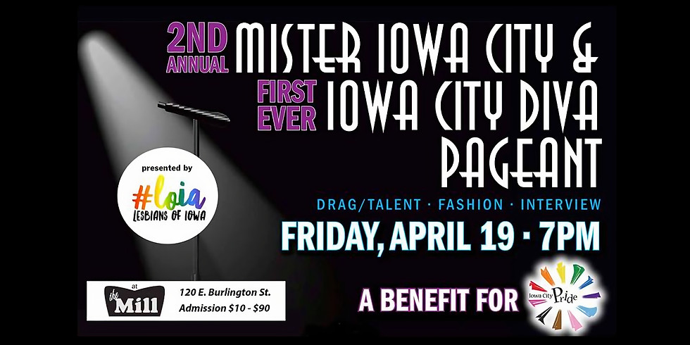 Inaugural Iowa City Diva and 2nd Annual Mister Iowa City Pageant