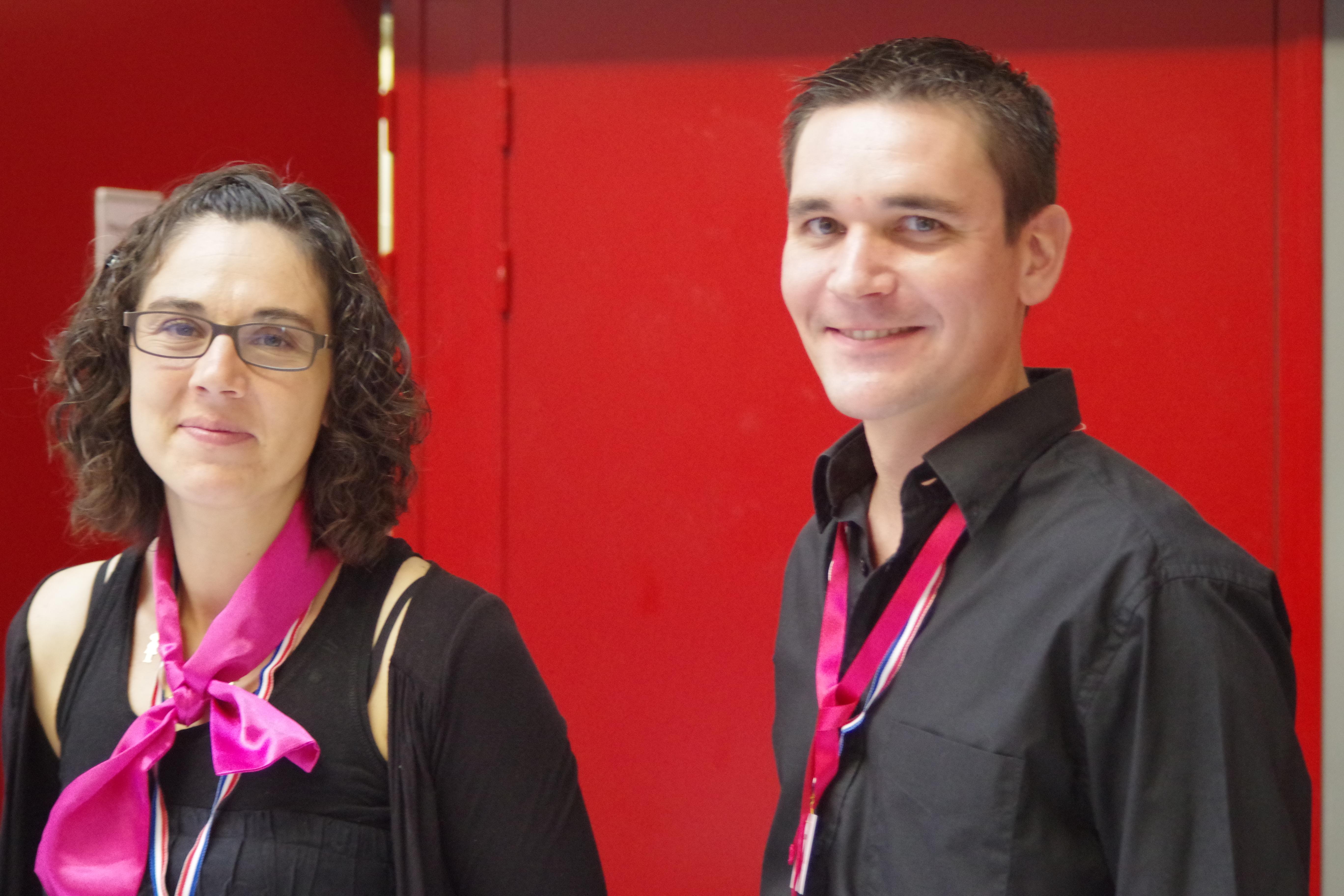 Mélinda et Florian, bénévoles