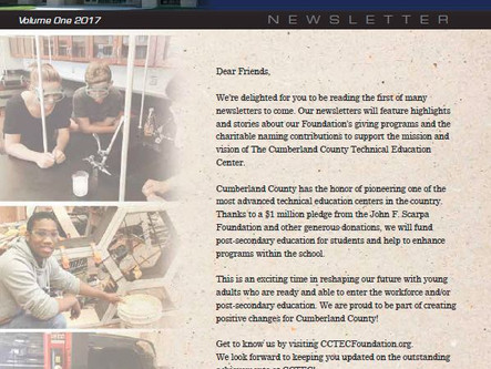 CCTEC Foundation Newsletter | Volume One