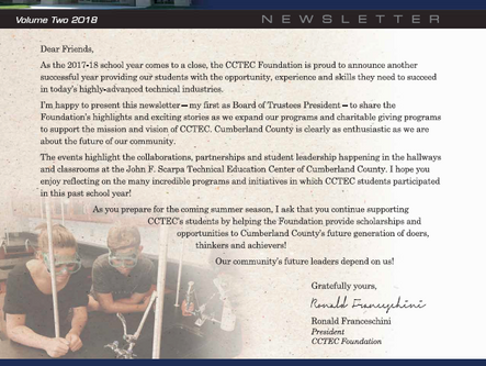 CCTEC Foundation Newsletter | Volume Two