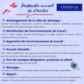 protocole d'accueil des clientes au salon de massage bien-être de Bordeaux et Talence en lien avec l'épidémie de coronavirus et prévention du covid 19