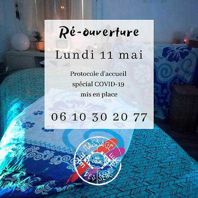 salon massage ouvert covid