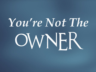 You're Not The Owner