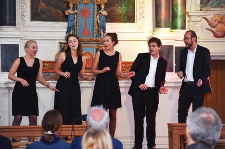 L'Ensemble Sottovoce en concert à Brec'h, en 2017