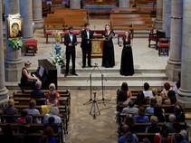 L'Ensemble Sottovoce en concert à Arradon, en 2021