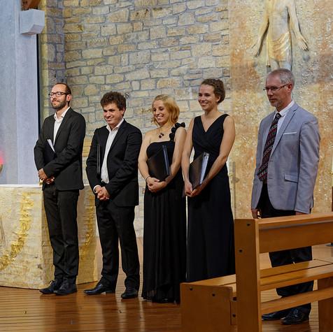 L'Ensemble Sottovoce en l'église Sainte-Bernadette-du-Kreisker