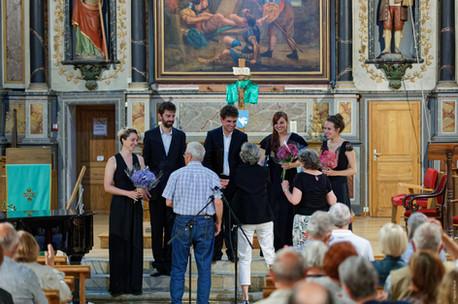 L'Ensemble Sottovoce en concert à Ploemel, en 2021