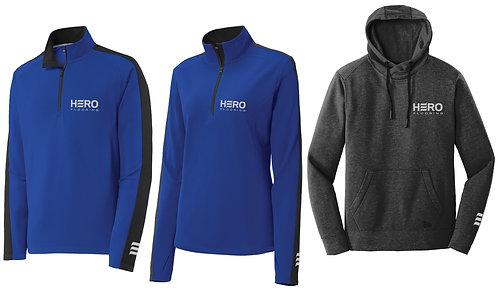 Men's & Women's long sleve quarter zip / Winter hoodie
