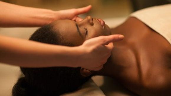 Black Woman Headache and Migraine Massage
