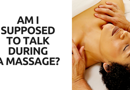 Am I Supposed to Talk During a Massage?