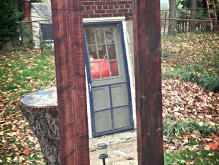 What I Did With What I Thrifted:  Rustic Floor Mirror