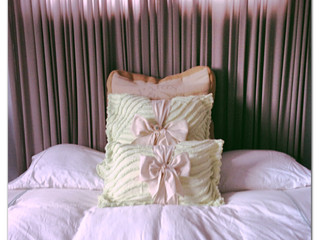 What I Did With What I Thrifted:  Vintage Chenille Brooch Pillows