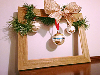 What I Did With What I Thrifted: Rustic Christmas Frame