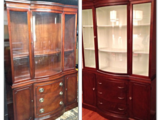 Before & After Wednesday:  Beauty the China Cabinet