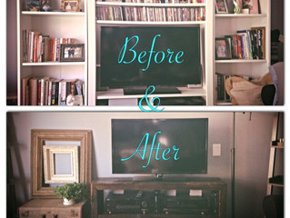 Before & After Wednesday:  Living Room Re-do