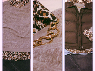 Thrifted Outfit Thursday - Leopard Layers