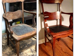 Before & After Wednesday - Antique Chair Restoration