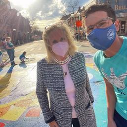 Enjoying the FoolMoon festival in Ann Arbor with Congresswoman Debbie Dingell