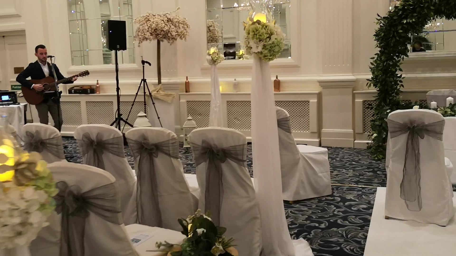 Today's Wedding In the stunning Hotel Meyrick Galway, Congrats John & Joan ❤️❤️❤️, Music by https://www.facebook.com/thesixtyfivemusic/ fantastic voice 🎶🎶🎶