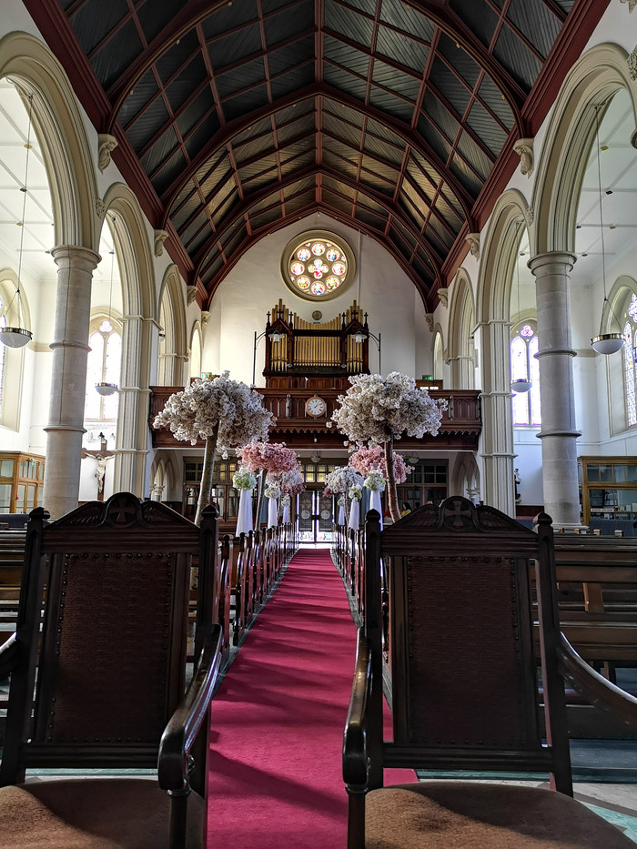 Church Decoration For Wedding