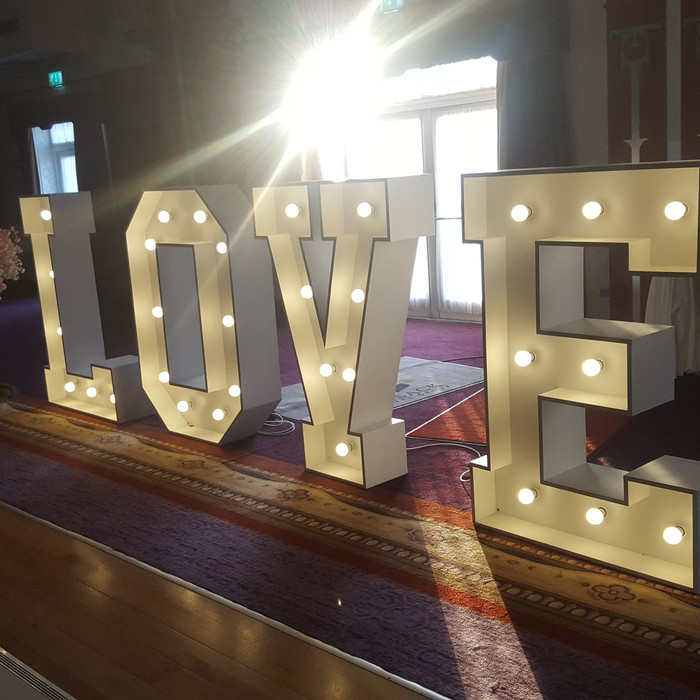 Love Letters Wedding decorations.