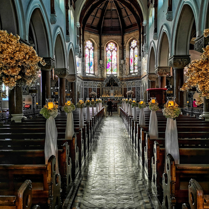 Wedding decor, Loughrea Cathedral