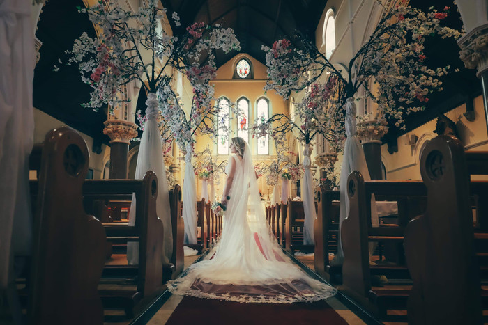 Wedding Decoration, St Joseph's Church Galway
