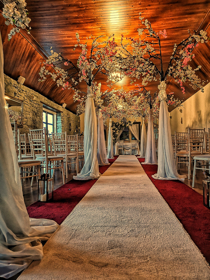 Clonabreany House, Civil ceremony wedding decor