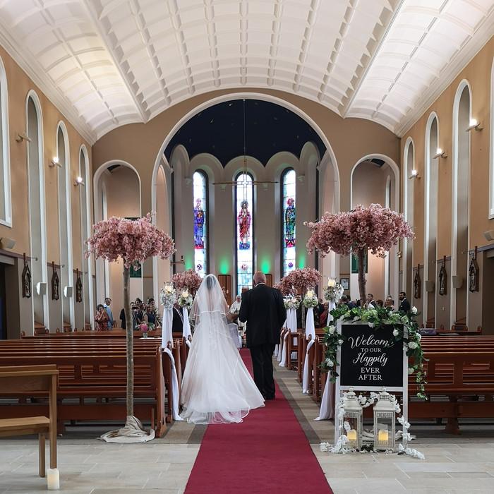 Church Wedding decoration to hire,#weddingdecor #wedding #weddingplanner #weddinginspiration #weddi