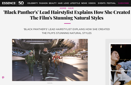 Essence-Black Panther's Lead Hairstylist