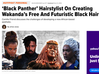 Huffpost.com Black Panther Hairstyling