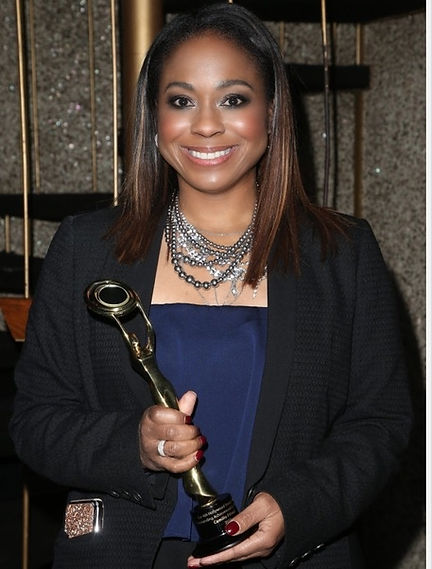 Camille Friend accepts her Hollywood Beauty Award