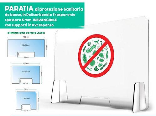 Paratia di protezione sanitaria 100x66 cm