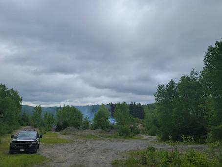 Lac Baker: encore un autre incendie
