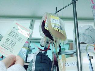 ずーっと輸血中